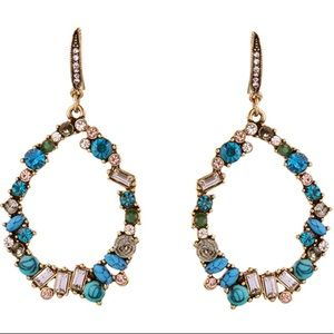 Multi blue green stone earrings